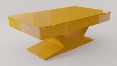 Verona em Laca cor Amarelo Camaro Acetinado com Tampo Jantar