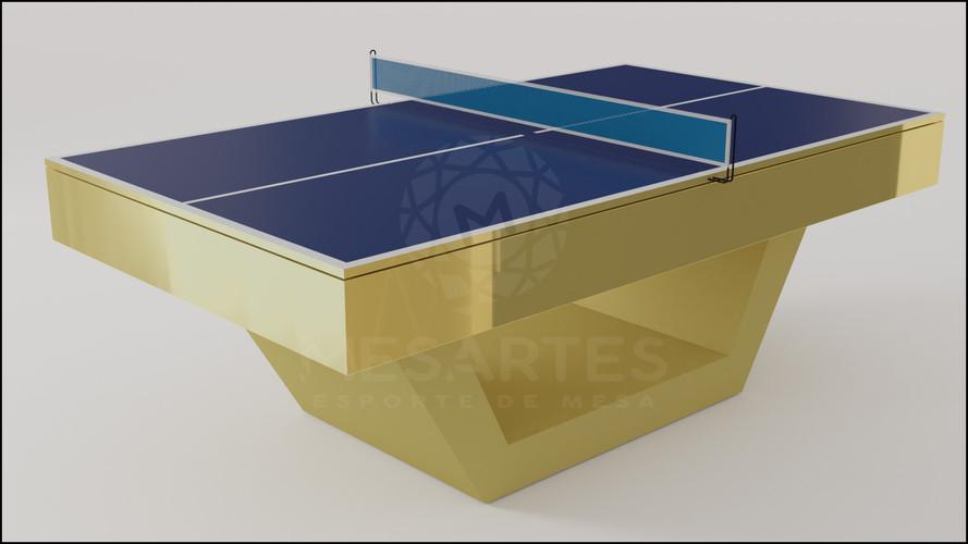 Londres em Laca Brilhante Dourada com Adaptação para Tênis