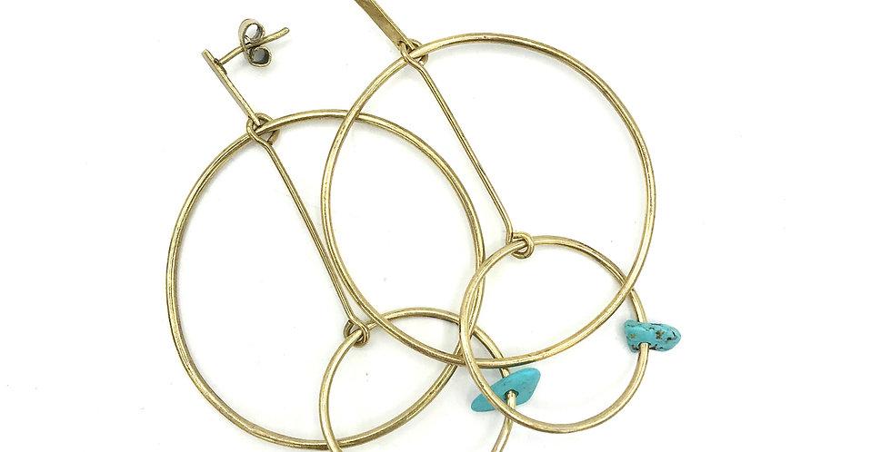 SATURNO - Turquoise - Bronze