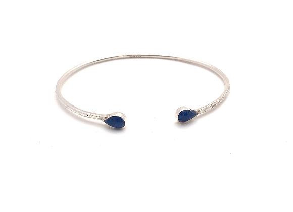 Bracelet GOTA - Sodalite - Argent