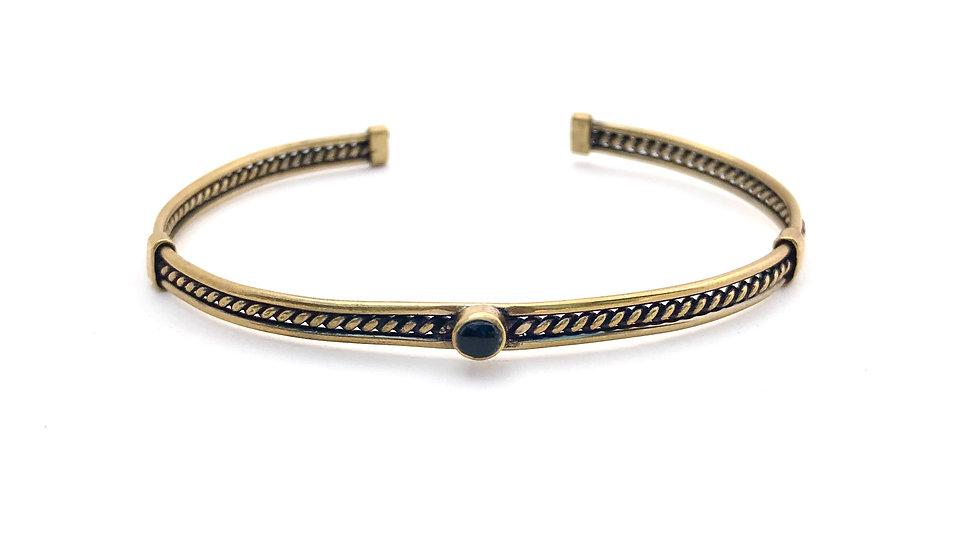 Bracelet ÑAUPA  - Onyx - Bronze