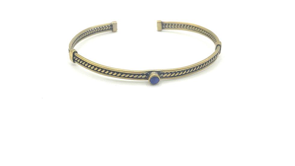 Bracelet ÑAUPA - Sodalite - Bronze
