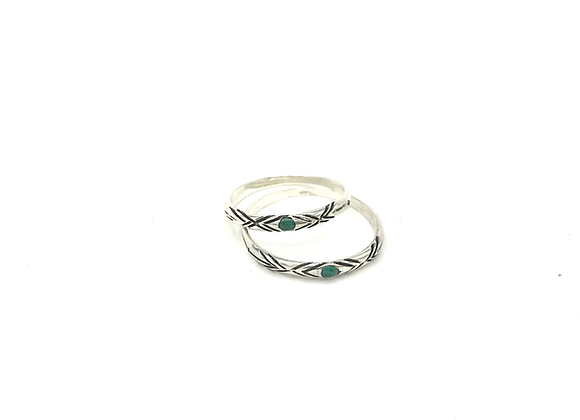 Bague PESQ'O Chrysocolle Argent