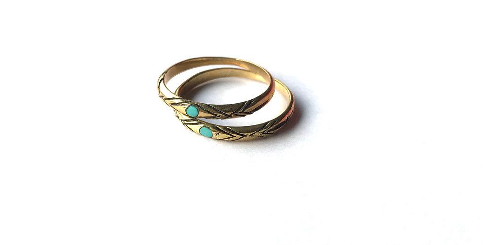 PESQ'O-Turquoise-Bronze