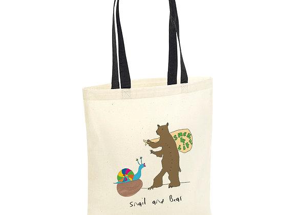 snail and Bear Tote Bag