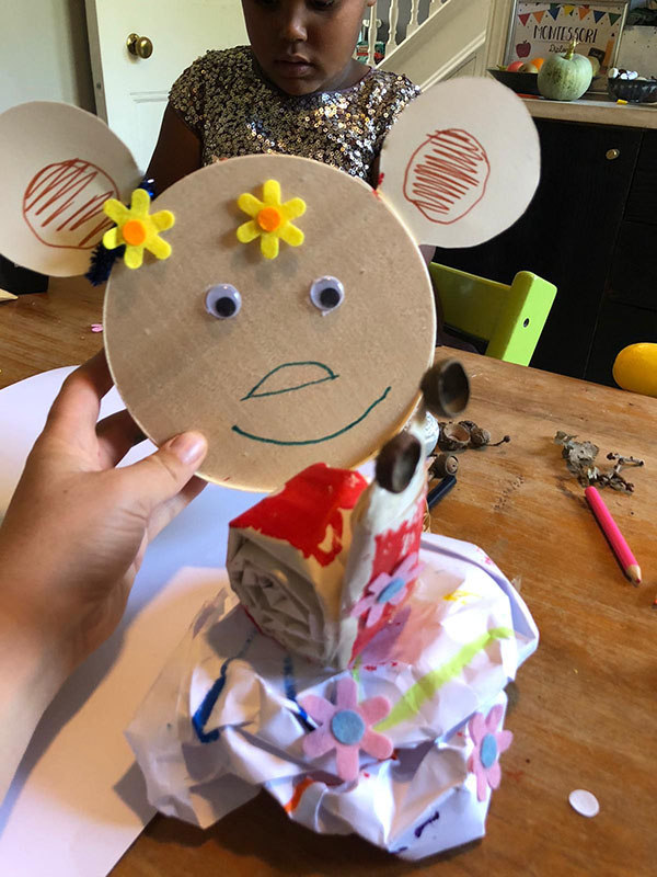 Paper Snail and Bear mask
