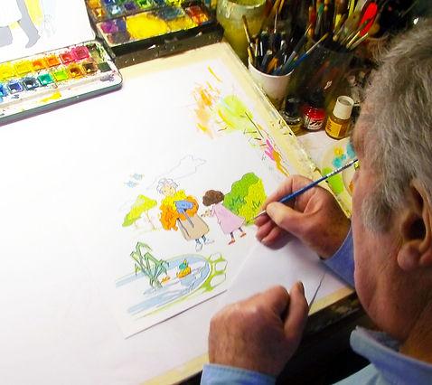 Pete Sanders.Artist.Illustrator.Draftsman