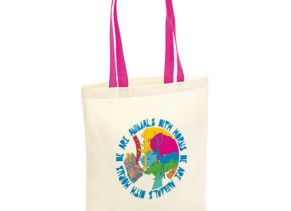 Animals with Horns Tote Bag