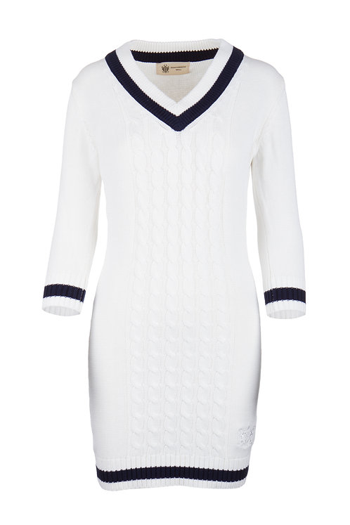 NS Women's Ivory Knitted Dress