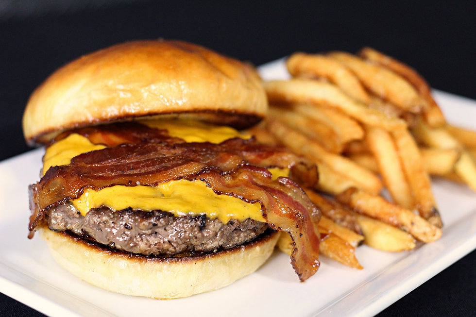 Ground Burger and Hand cut fries