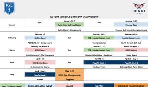 13 Event Schedule - 2020 IGL Season
