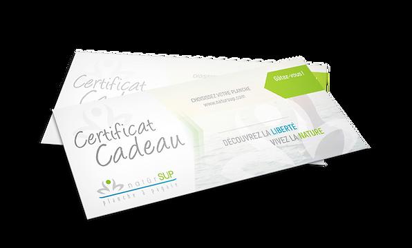 Certificat cadeau naturSUP