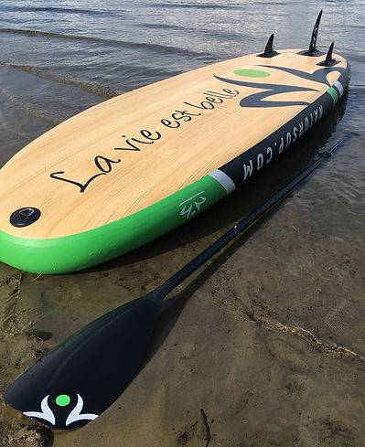Natur SUP, Paddle board, Planche à pagaie gonflable, Lanaudière, LOTUS