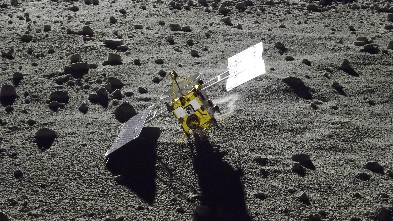 Set Photo [HAYABUSA on Asteroid ITOKAWA]