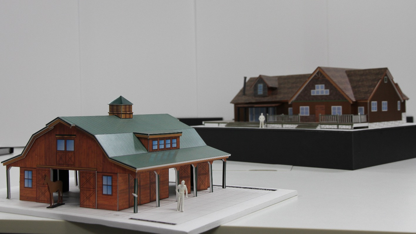 Foamcore Models [Farm House and Stable]