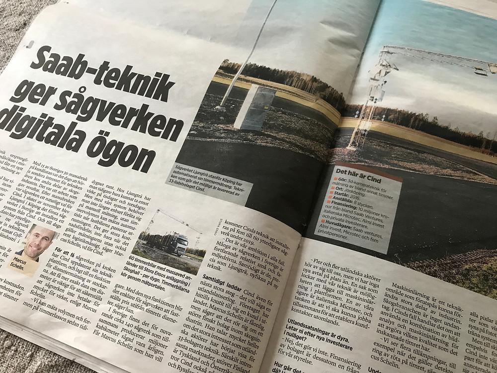 Tidningen Ny Teknik uppmärksammar Cind