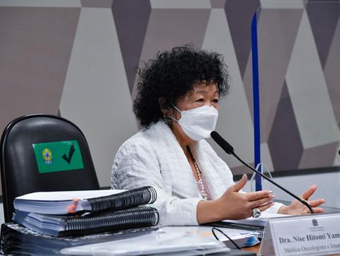 Nise Yamaguchi mente na CPI da Covid-19 segundo levantamento do Estadão