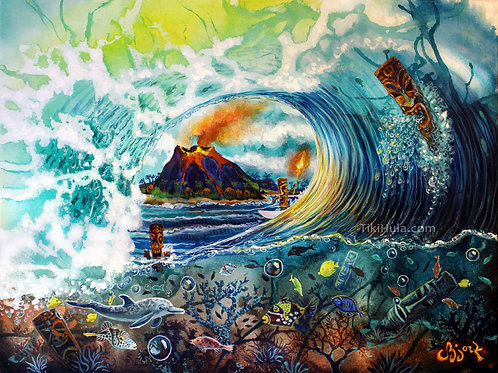 Tiki Wave With Fish