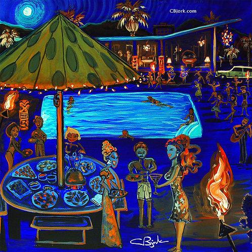 Blue Desert Pool Party