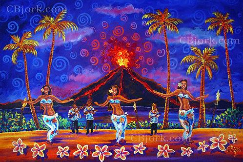 Aloha Blue Hula Luau