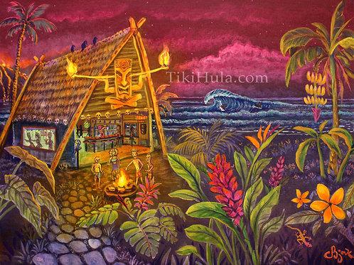 Beach Tiki Bar Hut