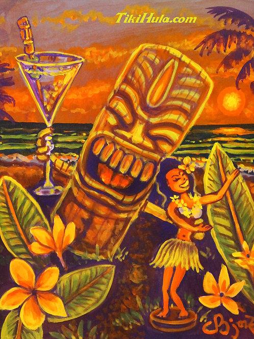 Sunset Tiki Hula