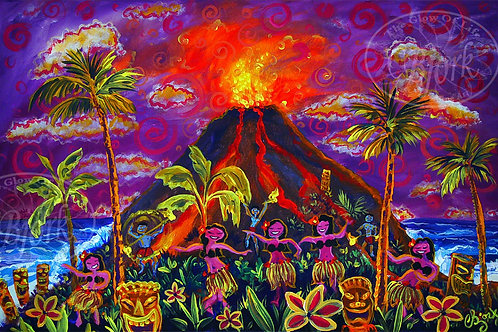 Happy Hula Volcanic Island