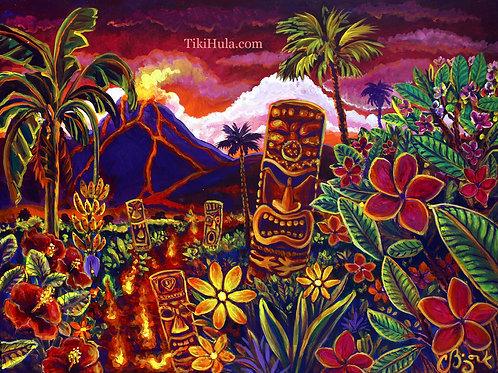 Tiki Lava Garden