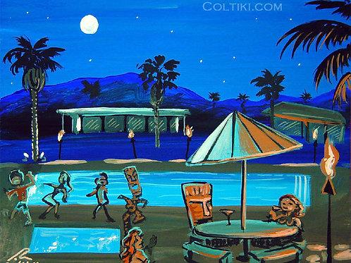 Palm Oasis Blue