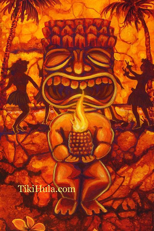 Tiki Hula Fire Dance