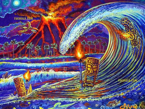 Tiki Volcanic Waves