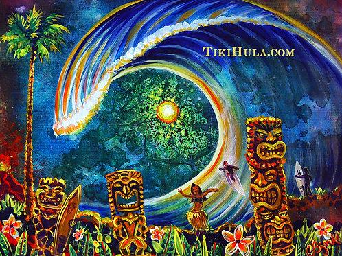Tiki Hula Big Wave