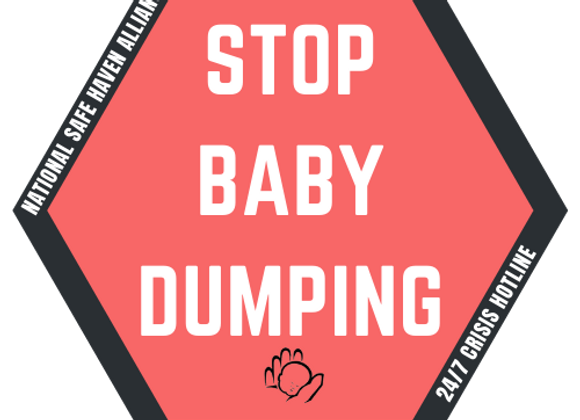 Stop Baby Dumping Sticker