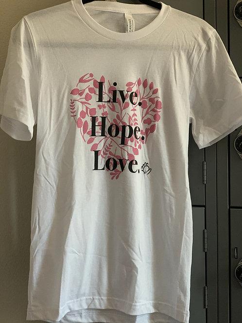 Floral Live Hope Love T-Shirt