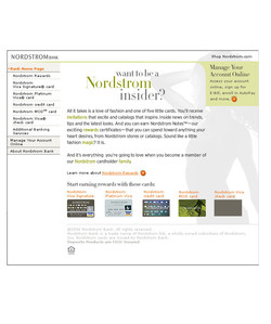 Nordstrom Bank Home Page