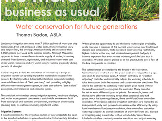 Watering for Future Generations