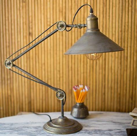 Rustic Metal Table Lamp