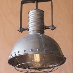 Metal Warehouse Light with Cage
