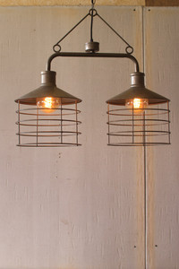 Double Cage Metal Light