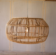 Large Round Bamboo Light