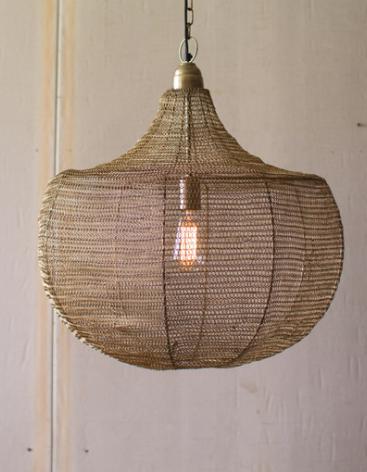 Wire Weave Basket Light
