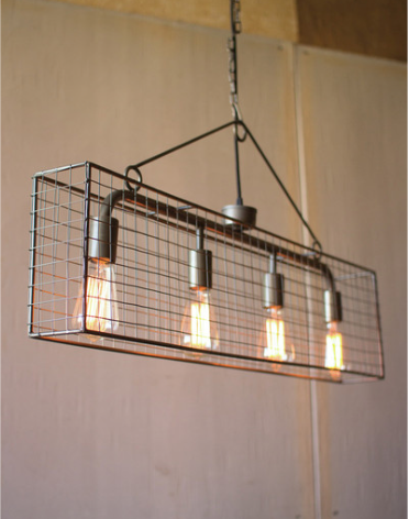 Wire Mesh Industrial Light
