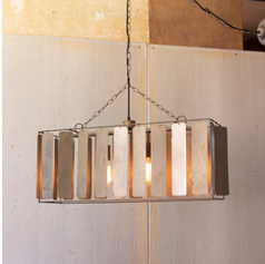 Large Rectangle Light with Metal Chimes