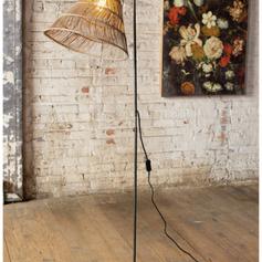 Floor Lamp with Rattan Shade
