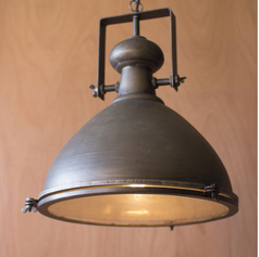 Large Metal Spotlight with Glass Cover