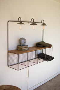 Triple Lighted Wire Cubby