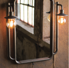 Double Lighted Wall Mirror