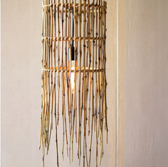 Tall Bamboo Pendant Light