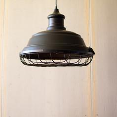 Dark Metal Caged Light