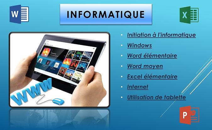 adultes cours informatique tablette ipad traitement de texte tableur